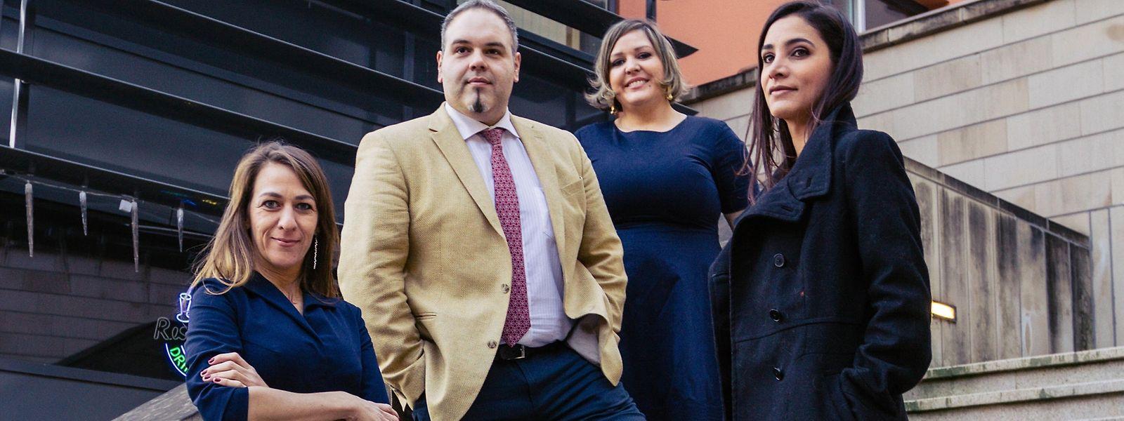 Os quatro membros fundadores da CCBRALUX: Cândida Nedog, André Bezerril, Flavia Bley e Amanda Campagnani.