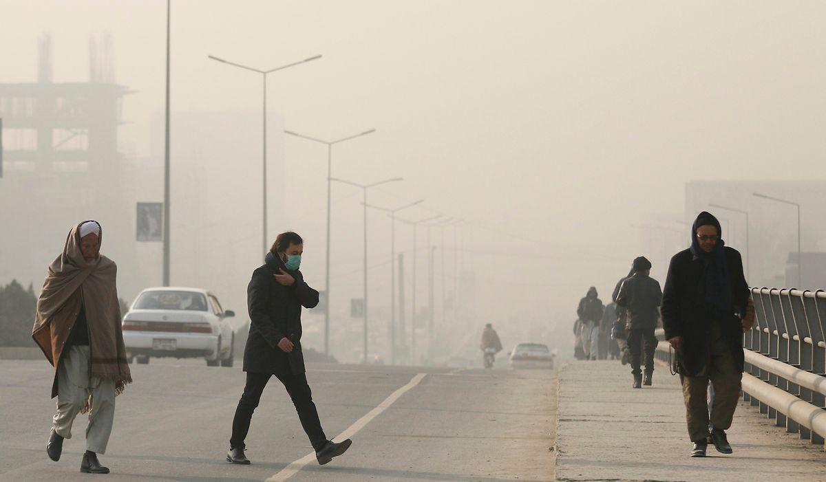 Smog verschlingt Kabul.