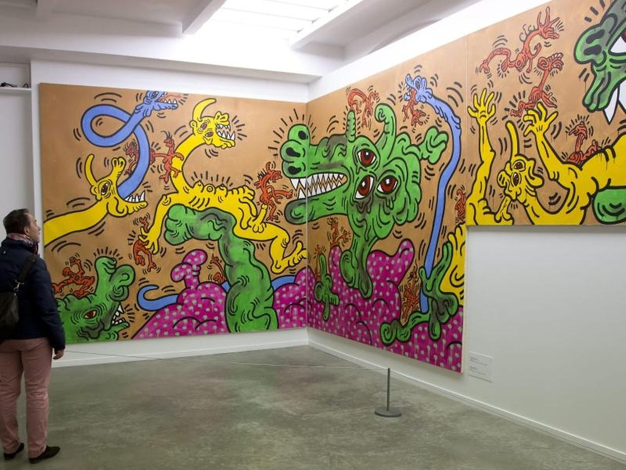 Keith Haring, Untitled (Mural), 1986.
