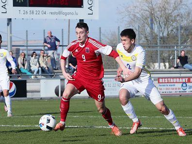 05 FLF Fussball EM Qualifikationsspiel zwischen Luxemburg und Ksaschstan in Differdingen am 28.03.2017 Edvin Muratovic (9 FLF)