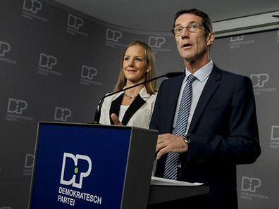 Als Berichterstatterin der Steuerreform dürfte demnächst die DP-Abgeordnete Jöelle Elvinger (l.) genannt werden. Hier im Beisein von Parteikollege und Präsident des Finanzausschusses Eugène Berger.