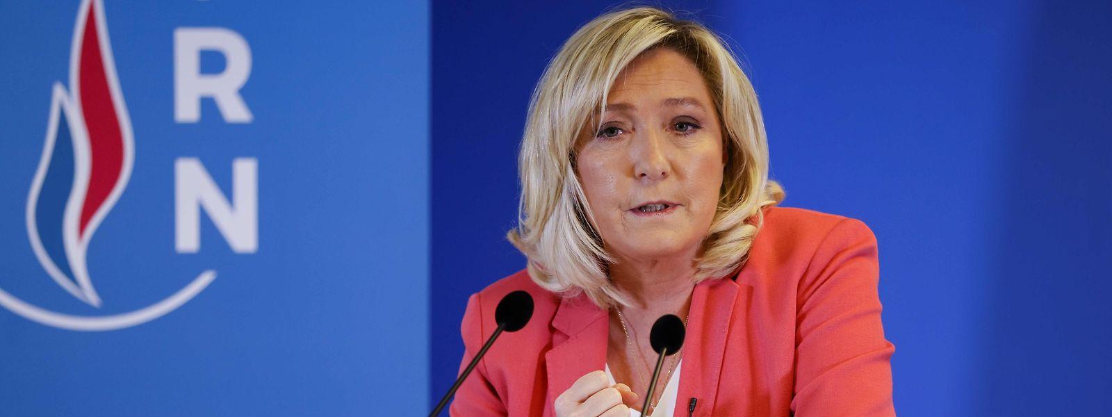 Marine Le Pen, Chefin des rechtspopulistischen Rassemblement National, tritt 2022 zum dritten Mal als Präsidentschaftskandidatin an.