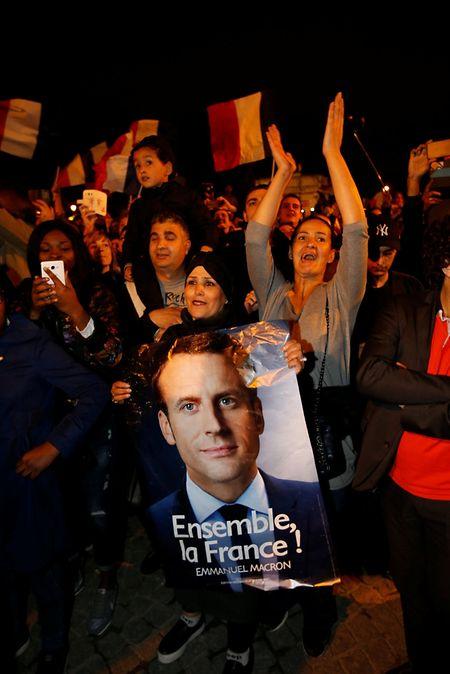 Für rund 20 Prozent der Wähler war Macron offensichtlich nur das kleinere Übel.