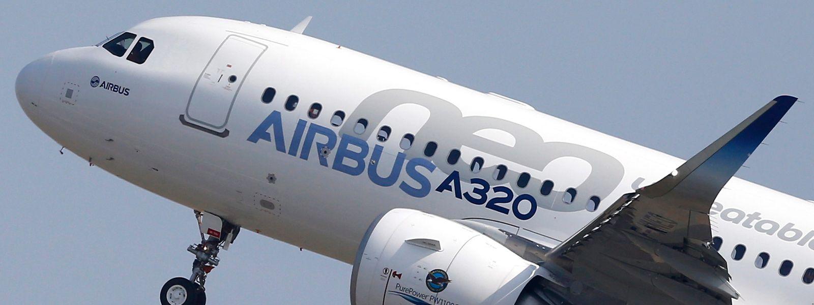 Ein Airbus A320neo beim Start.