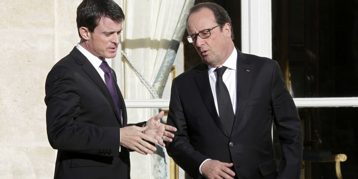 Manuel Valls et François Hollande, le 26 novembre à Paris