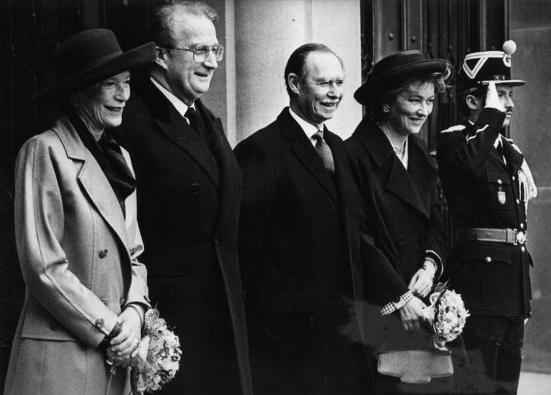 O rei Alberto II e a rainha Paola juntamente com o Grão-Duque Jean e a Grã-Duquesa Joséphine-Charlotte