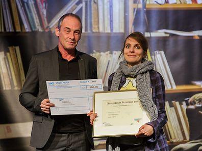 Claudine Muno, auteur de «Komm net kräischen» (éditions Op der Lay) remporte le Prix dans la catégorie reine: la fiction.