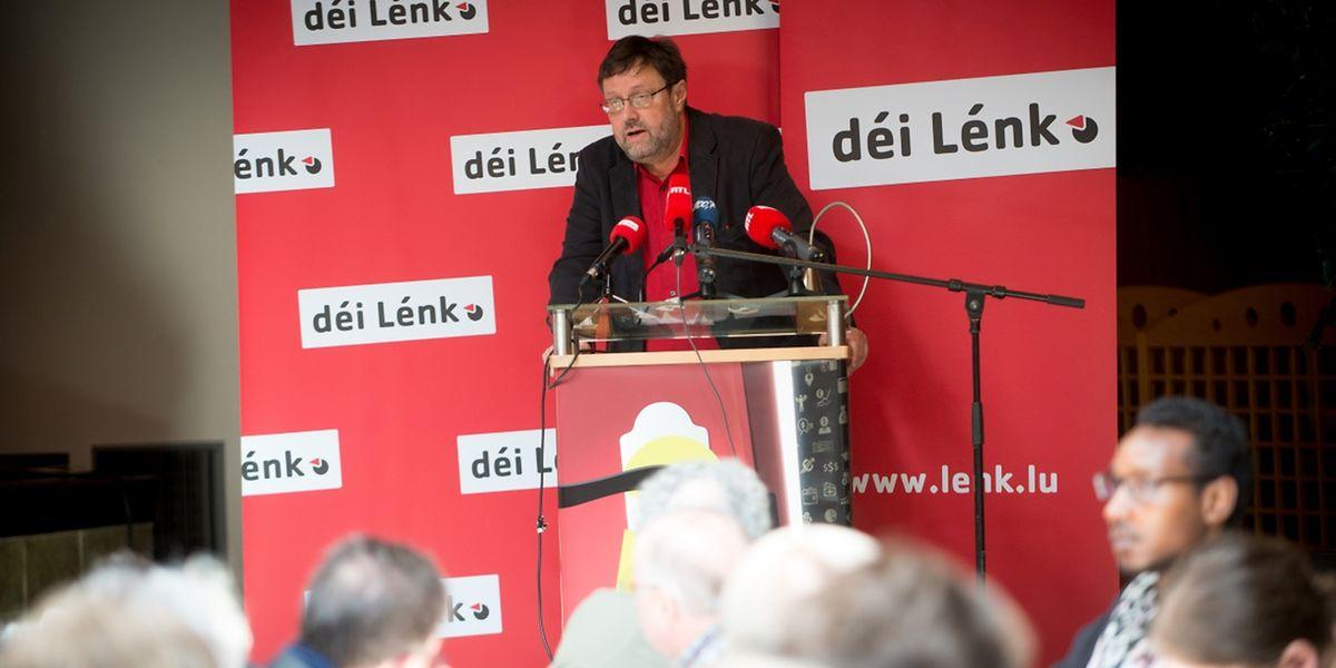 Der linke Abgeordnete Serge Urbany ging in seiner Rede neben der europäischen Krise auch auf die nationale Srel-Affäre ein.