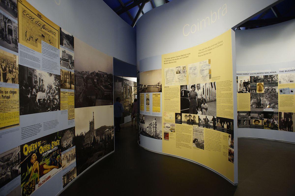 Uma parte da exposição no museu em Vilar Formoso.