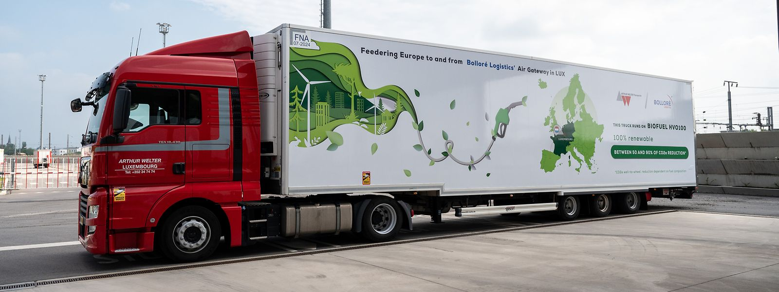 Der erste Lastwagen in Luxemburg, der hundert Prozent mit Biodiesel betankt wird - und damit rund 90 Prozent weniger CO2 produziert.