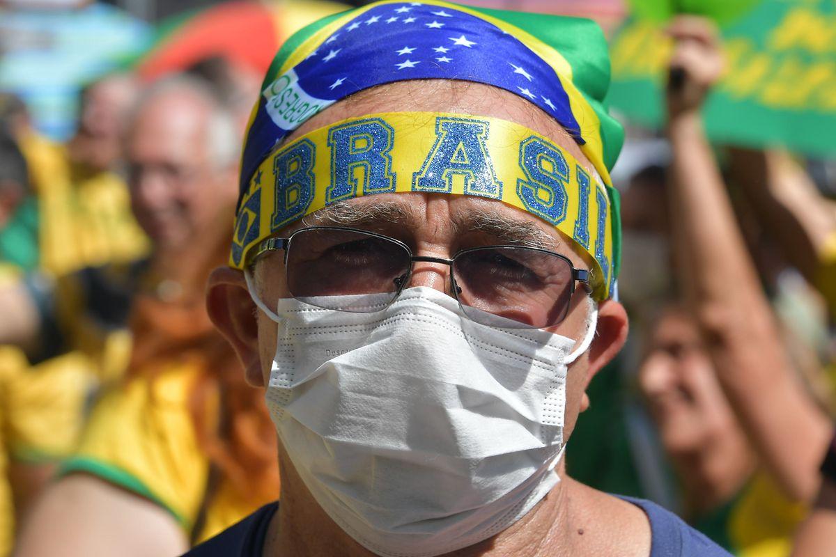 Bolsonaro-Anhänger in Brasilia.