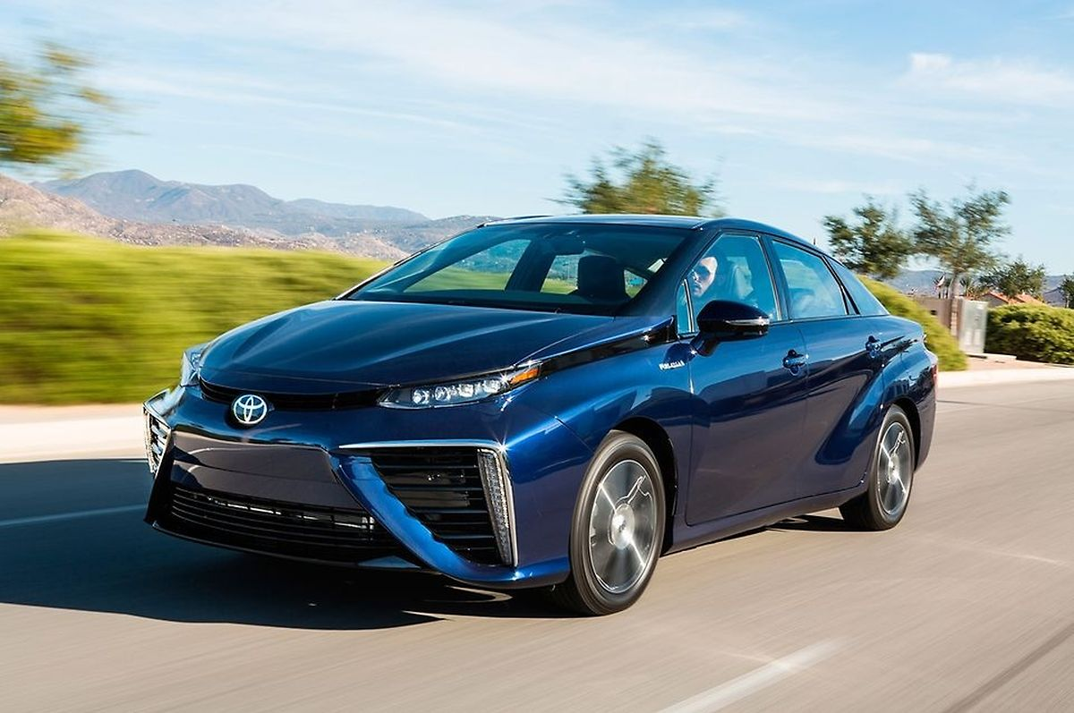 Hydrogen-powered Toyota Mirai Photo: AFP