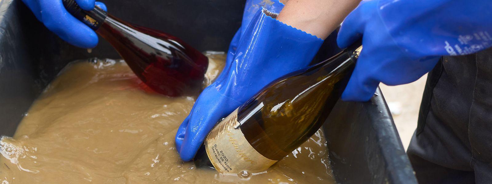 Dans certaines exploitations viticoles, l'eau a emporté «jusqu'à un quart de la surface cultivée», raconte Marc Weyer, président de la Fédération des associations viticoles luxembourgeoises.