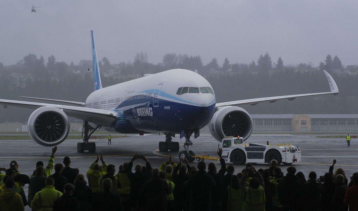 Die 777x verfügt über anklappbare Flügelenden.