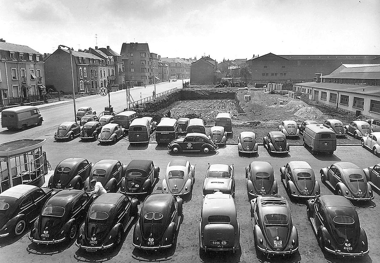 La concession Volkwagen le long de la route de Thionville date des années 1950