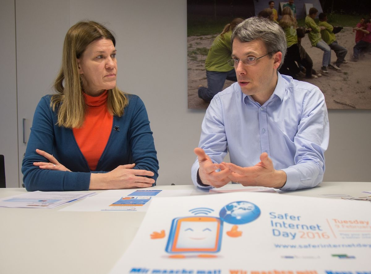 Judith Swietlik-Simon und Eric Krier von Bee Secure: Wir werden immer wieder mit Fällen von Cybermobbing und ,Sexting' konfrontiert.