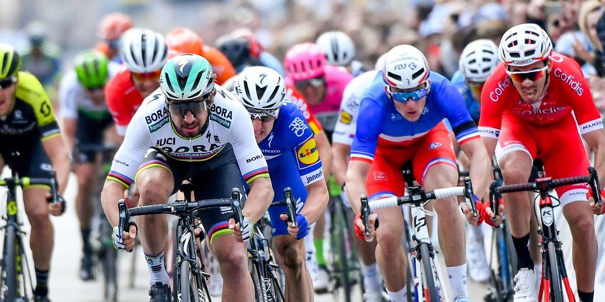 Peter Sagan, plein centre, a inscrit son nom au palmarès de Gand-Wevelgem pour la troisième fois.