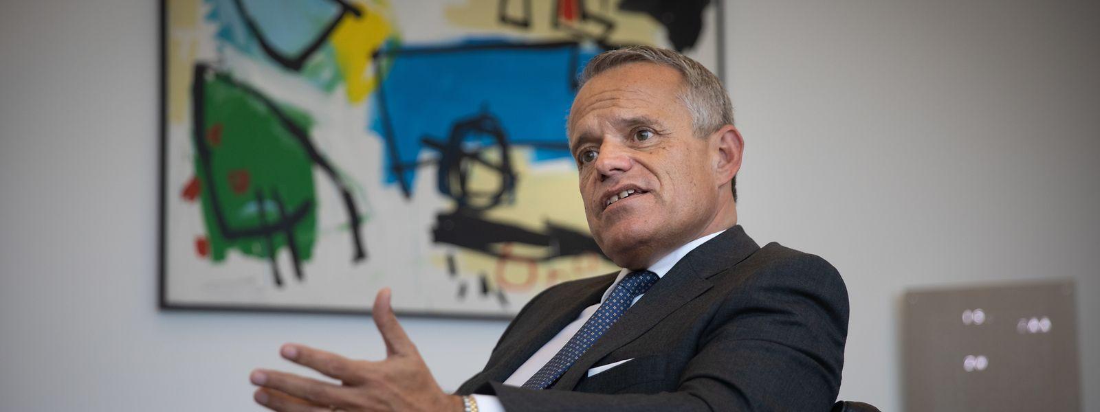 Guy Hoffmann, Präsident der ABBL sieht enorme Herausforderungen auf die Luxemburger Banken zukommen.