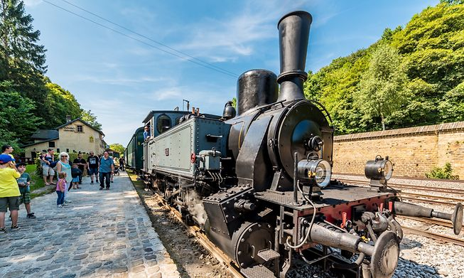 The steam Train 1900 goes from Pétange to Fond de Gras during the summer months