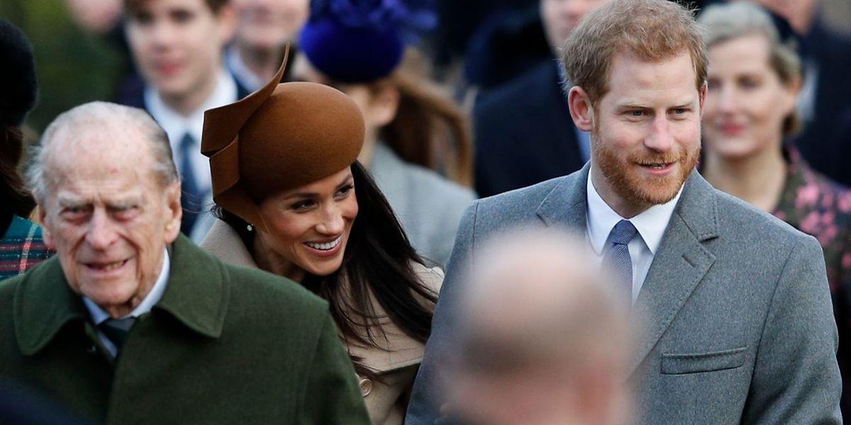 In Sandringham hatte die Schauspielerin Meghan Markle ihren ersten offiziellen Auftritt an der Seite von Prinz Harry.