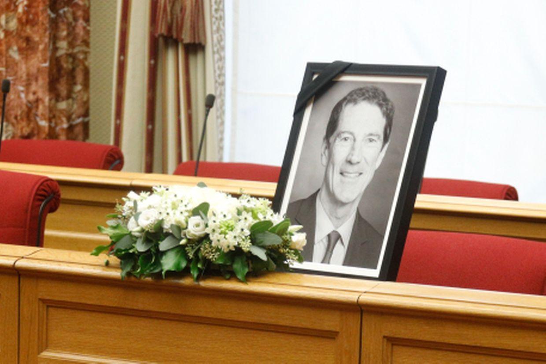 Trauerfeier für Eugène Berger in der Chamber.