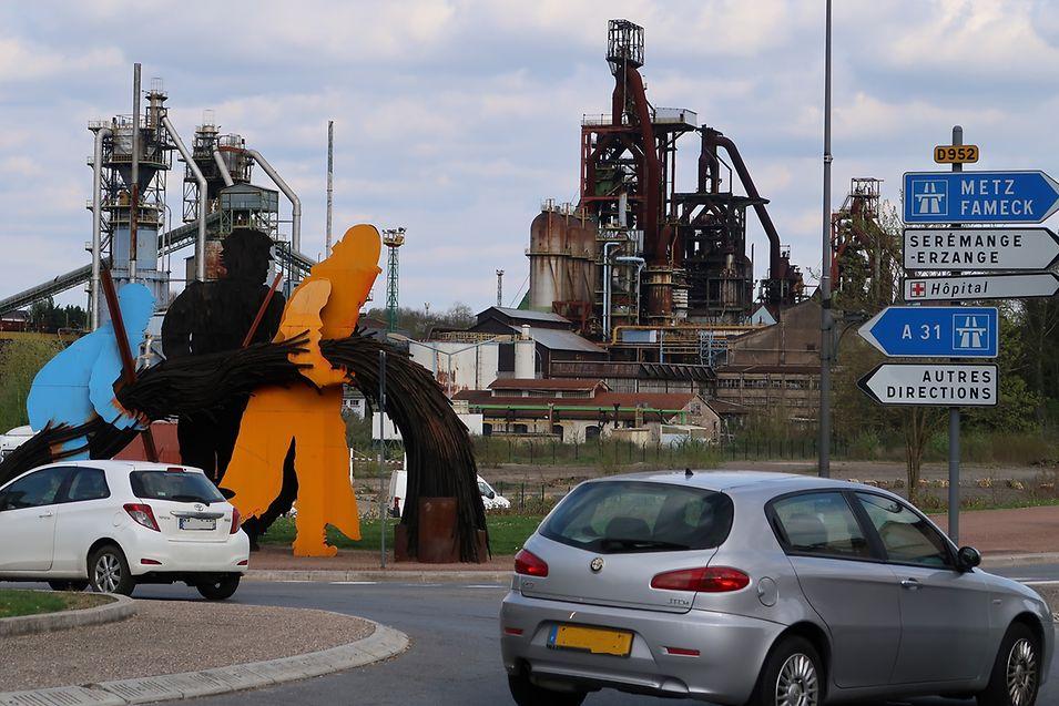 Em Hayange ainda é visível os traços do passado ligado às minas