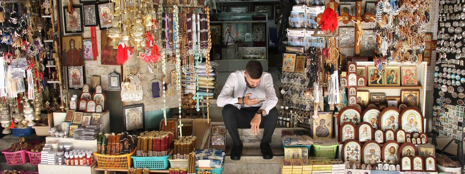 Noch warten die Verkäufer in Jerusalem auf Kunden.