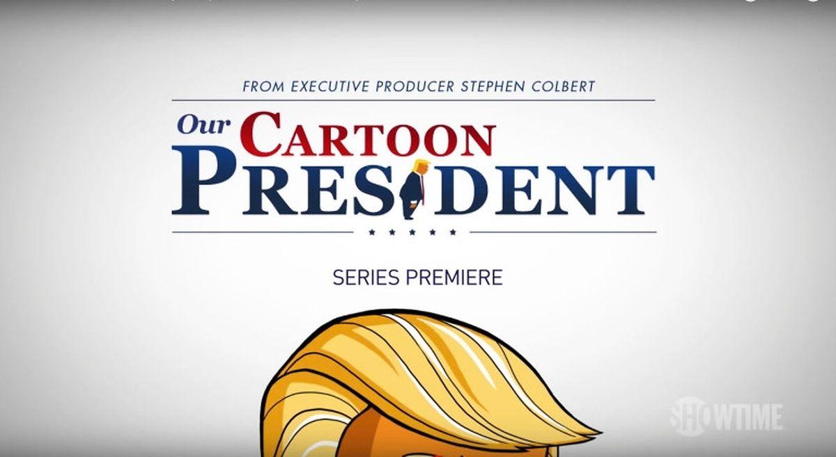 """Seit Februar 2018 ist die Animationsserie """"The Cartoon President"""" auch auf diversen Bezahlsendern zu sehen."""