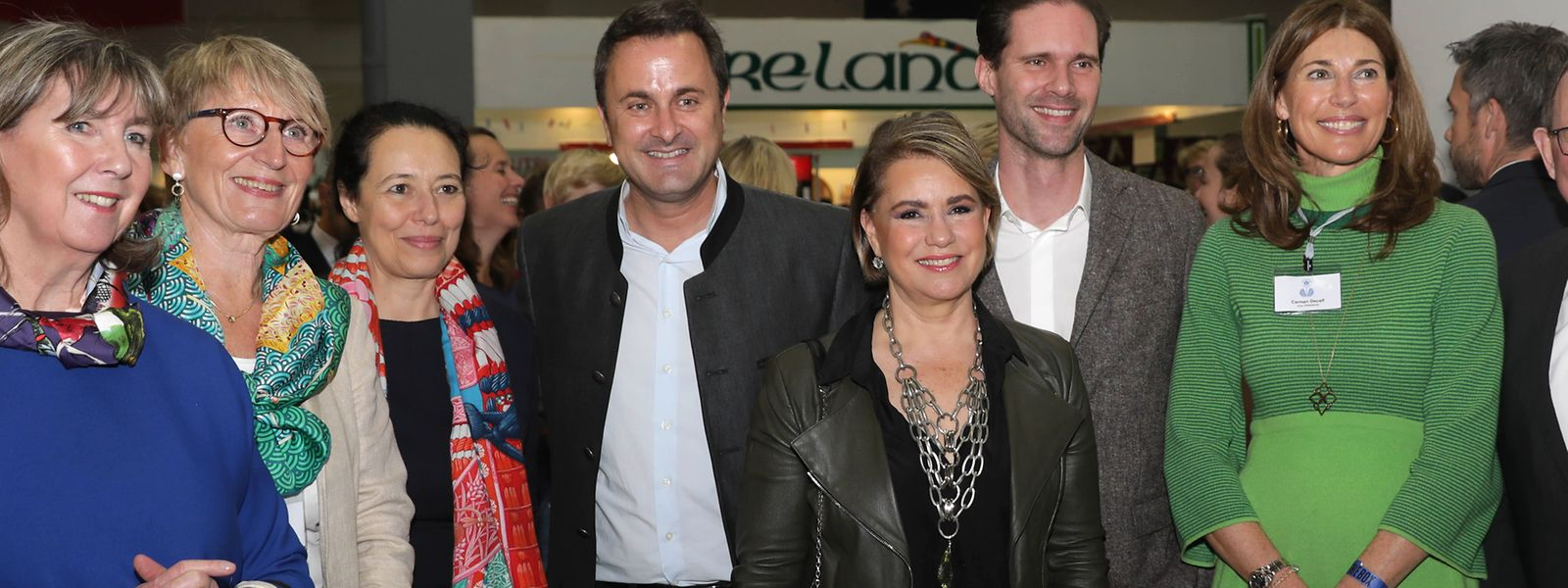 58e Bazar International de Luxembourg: la grande-duchesse Maria Teresa entourée de Xavier Bettel et Gauthier Destenay, Lydie Polfer, Isabel Wiseler.