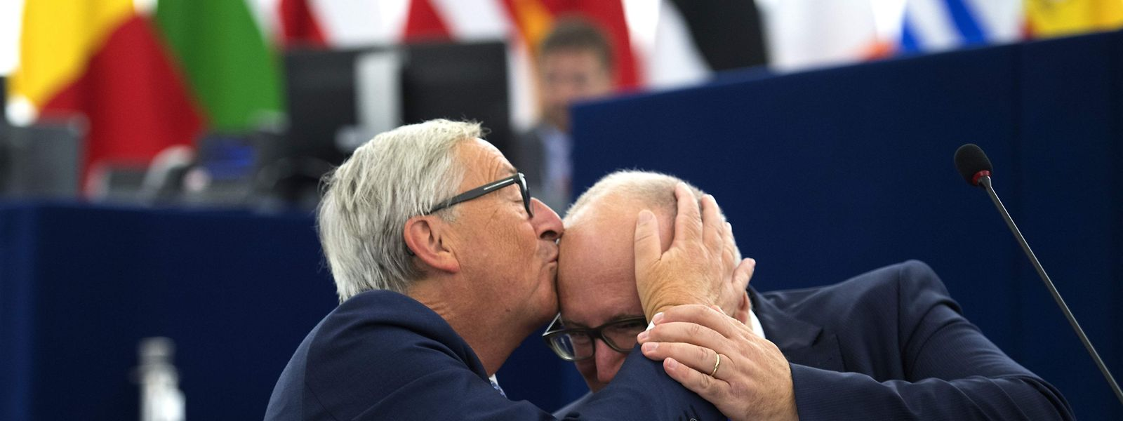 Jean-Claude Juncker, Frans Timmermans.