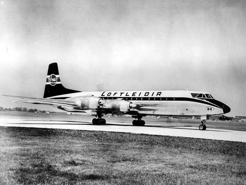 Les avions à hélices de la compagnie Loftleidir Icelandic furent les premiers appareils avec lesquels Cargolux a volé