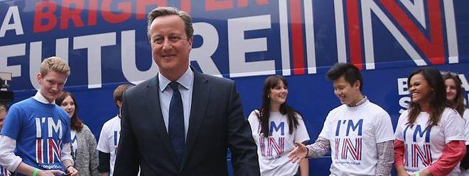 Premier David Cameron reist am heutigen Dienstag nach Brüssel
