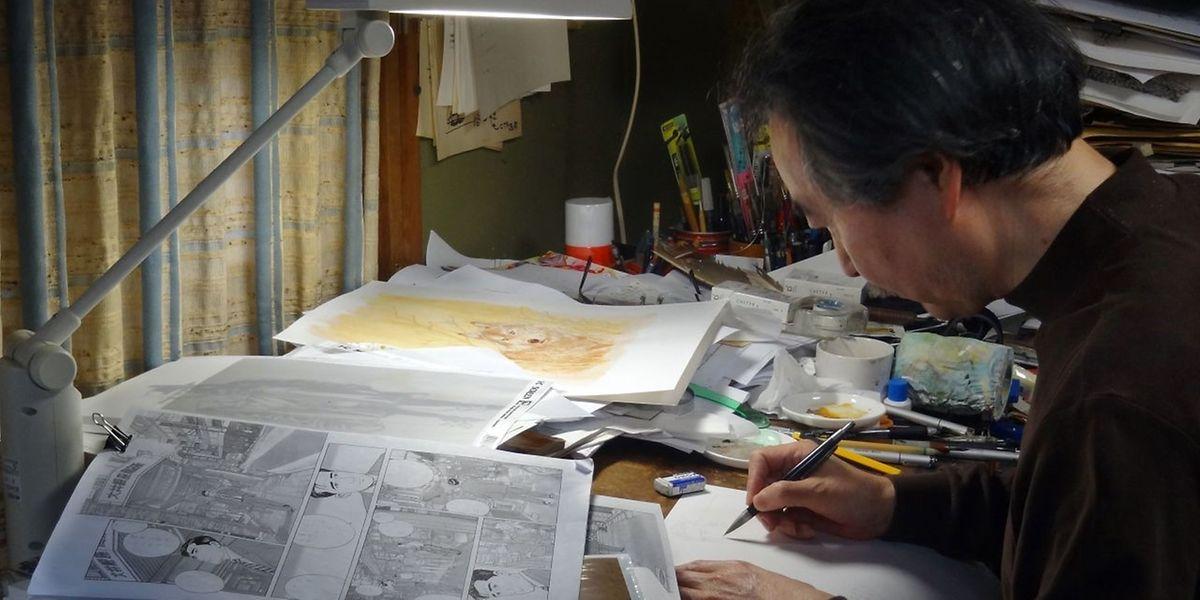 ¨Jiro Taniguchi travaillait dans un studio à Tokyo mais sa renommée a largement dépassé les frontières du Japon.⋌ (PHOTO: AFP