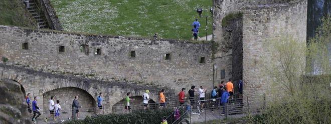 """Treppentraining gefragt: Die Strecke des """"DKV Urban Trail"""" wird den Läufern alles abverlangen."""
