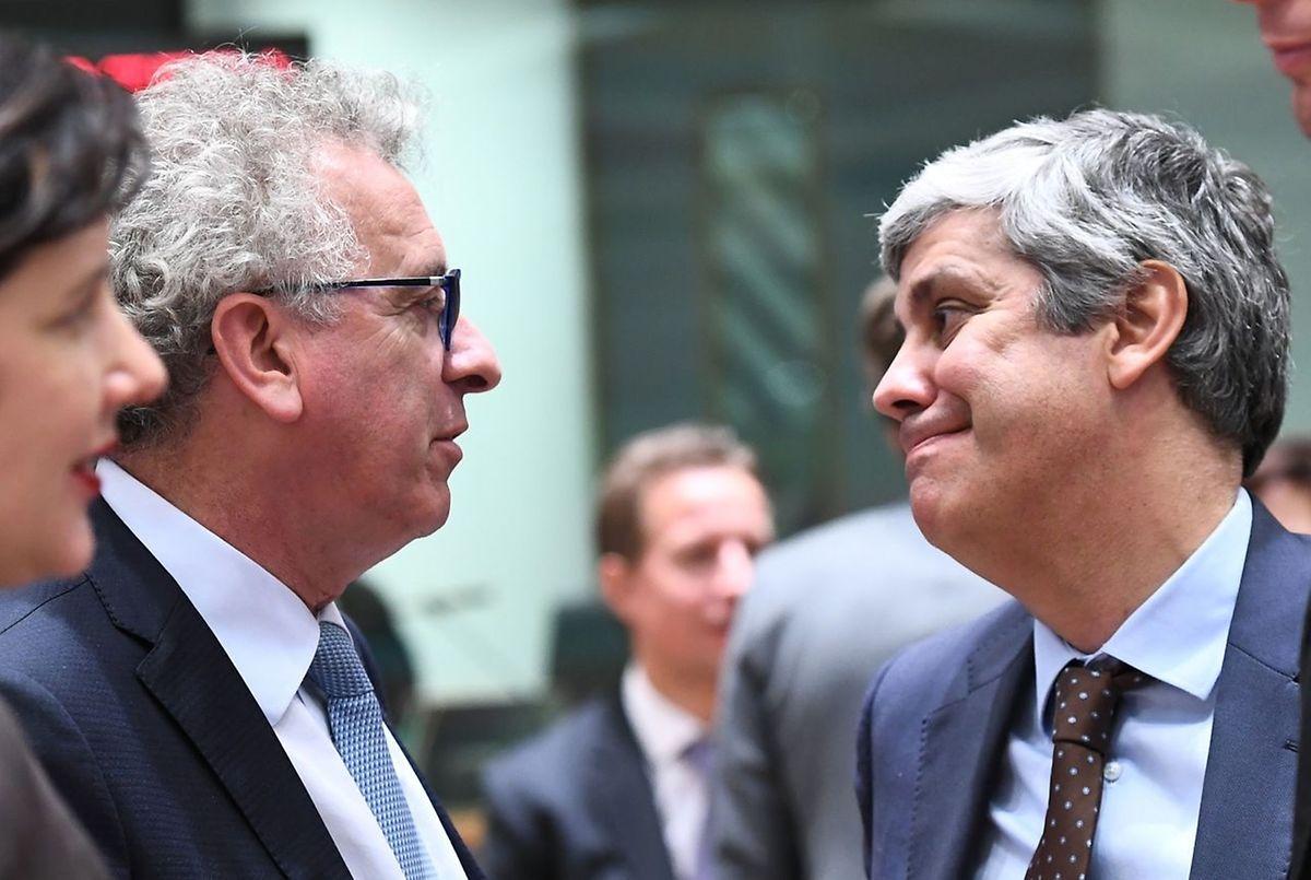 Mário Centeno e Pierre Gramegna.