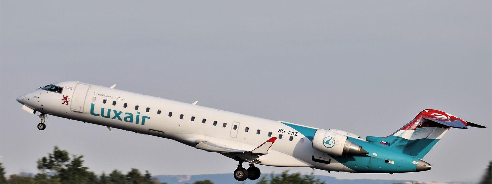 Luxair flog ab Saarbrücken mit einer von Adria gemieteten CRJ-700.
