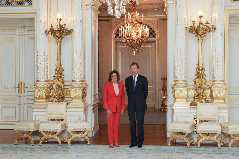 Nancy Pelosi mit Großherzog Henri.