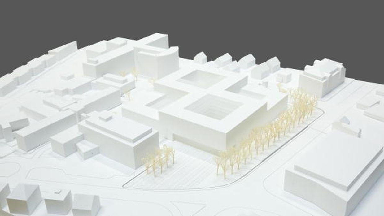 Das modulare und kompakte Gesundheitszentrum soll sich laut den Planern harmonisch in den urbanen Raum eingliedern.