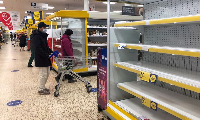 Shortages have been reported in supermarkets across the UK due the pandemic and Brexit
