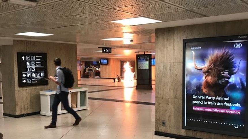Explosion am Brüsseler Hauptbahnhof - Person