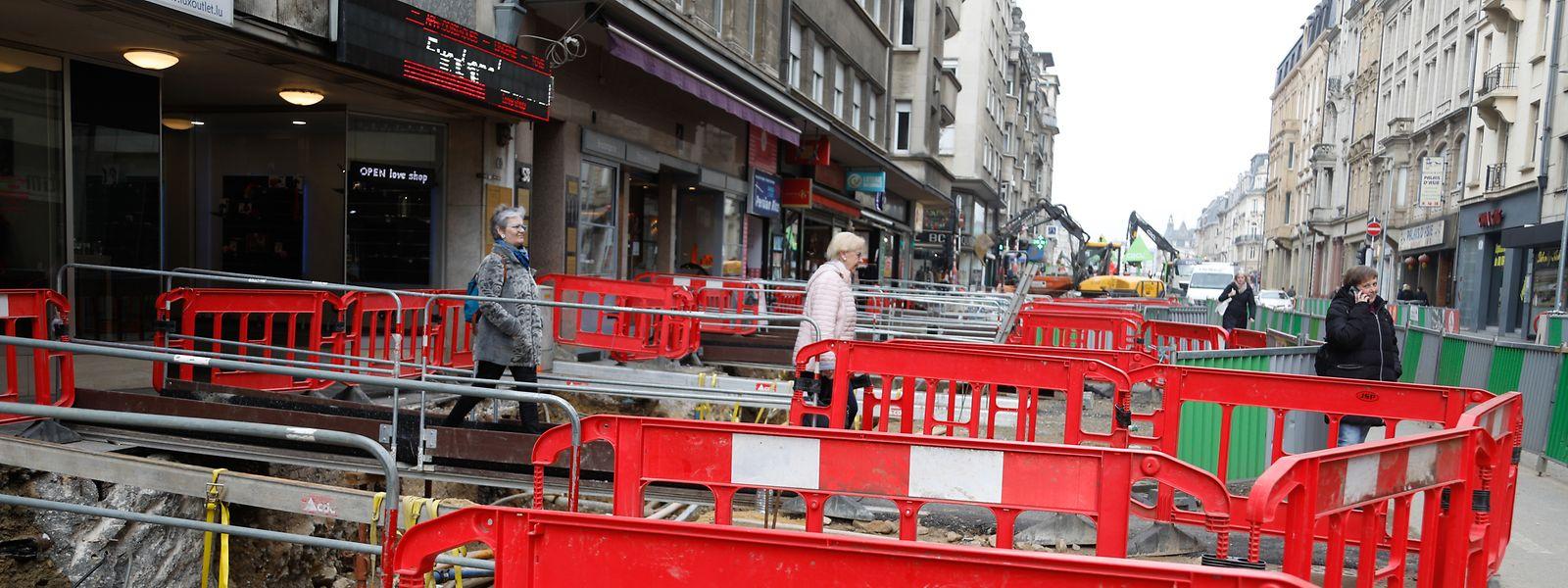 In der Avenue de la Liberté laufen die Arbeiten derzeit auf Hochtouren.