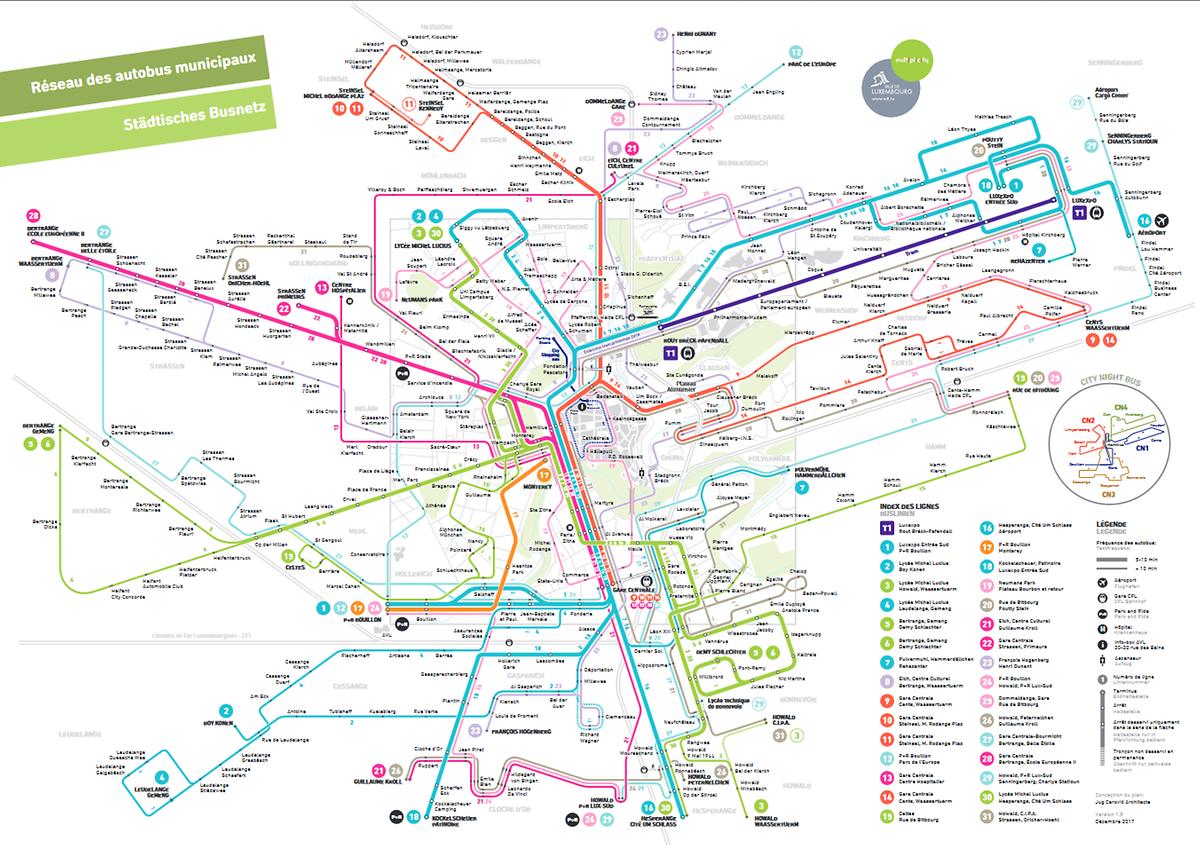 Das neue AVL-Streckennetz.