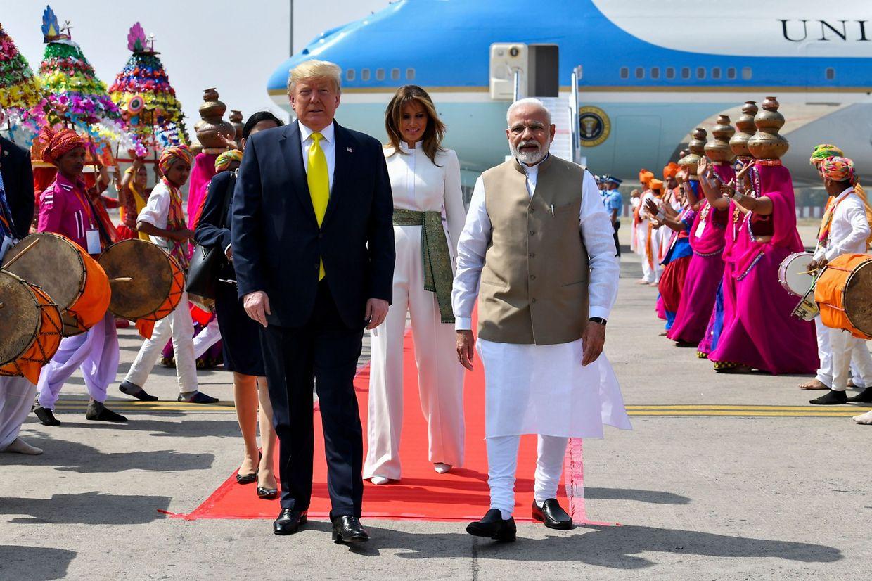 Trump in Ahmedabad.
