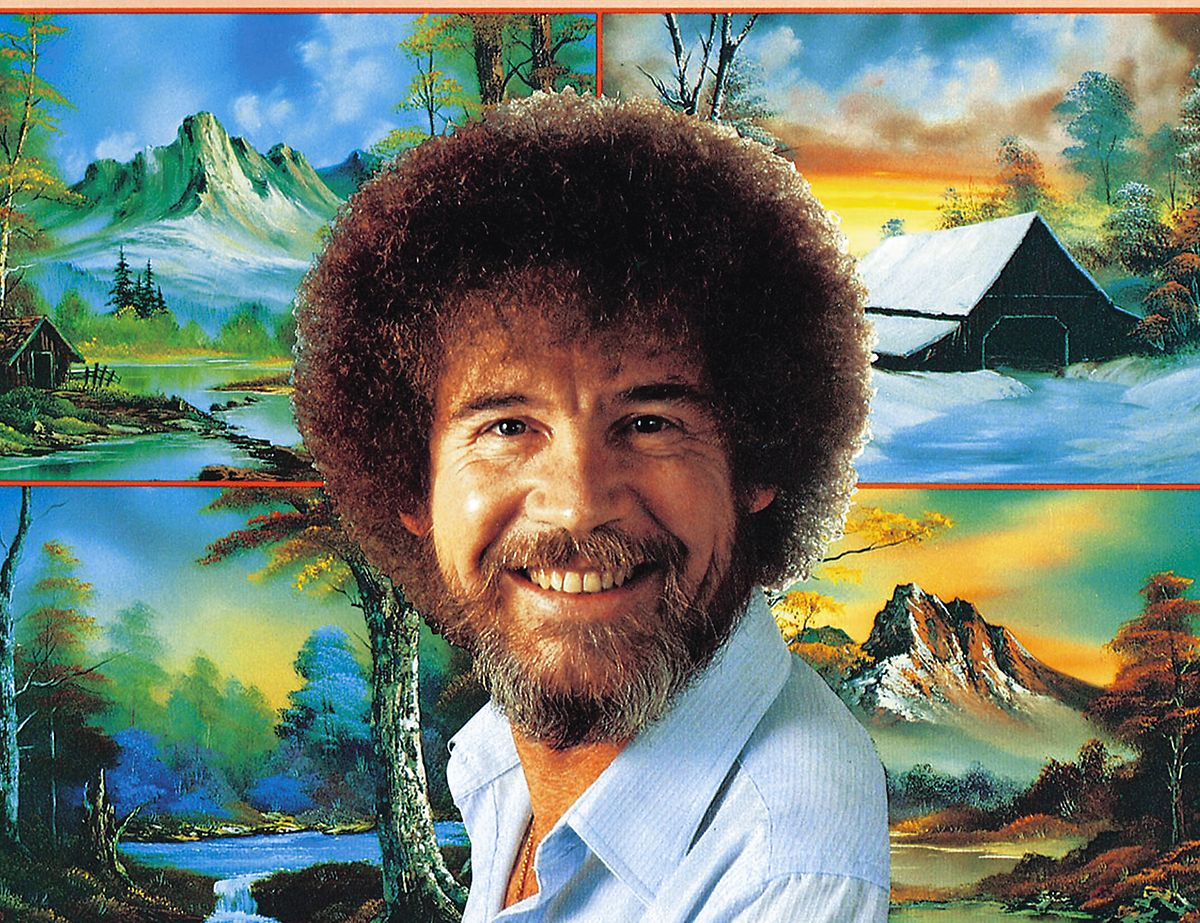 "Bob Ross mit seiner  Show ""The Joy of Painting"" zum Internetphänomen avanciert"