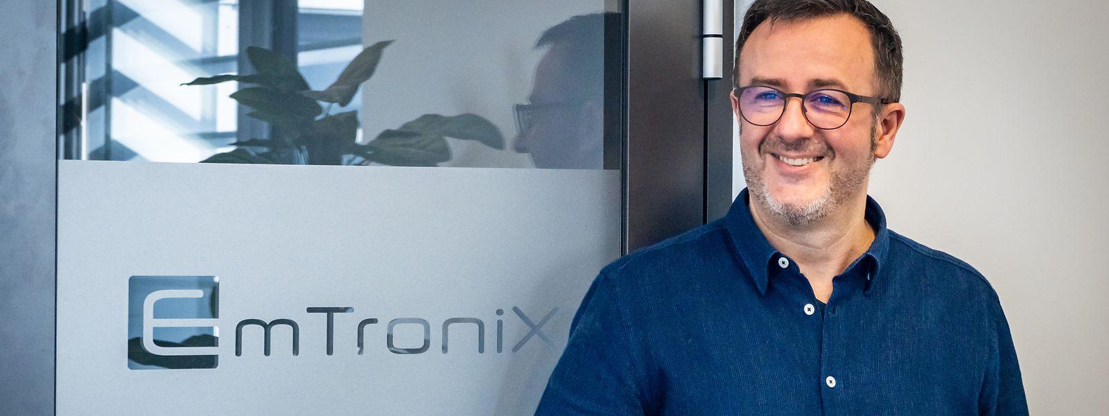 Cedric Lorant, Geschäftsführer von Emtronix, hat das Unternehmen 2001 gegründet. Heute arbeiten 27 Mitarbeiter bei dem Zulieferbetrieb für die Automobil-, Luft- und Raumfahrtbranche.