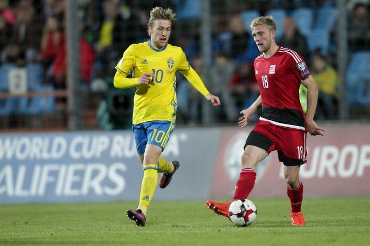 Emil Forsberg, c'est le poison offensif de la Suède. Et Laurent Jans ne sera pas là pour le surveiller.