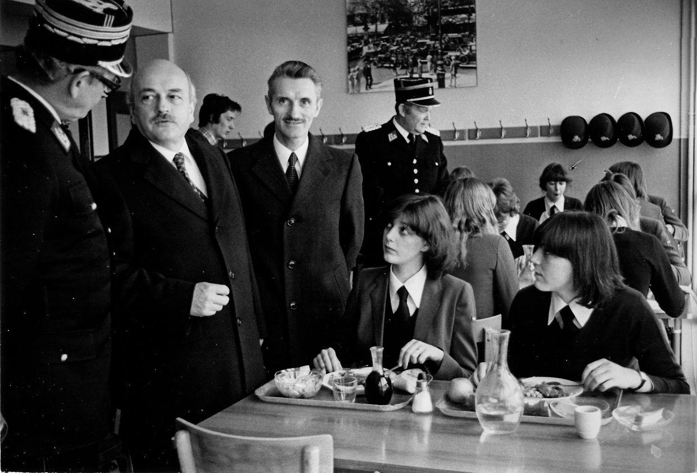 Am 10. Februar 1980 bekamen die Polizeischülerin bei ihrer Ausbildung in Reims Besuch von Politik und Presse.