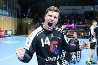 Handball Endspiel des Handballpokals der Männer zwischen dem HB Esch und dem HC Berchem in der Coque am 29.02.2020 Freude beim HB Esch nach dem Sieg und Christian BOCK (14 HBE)