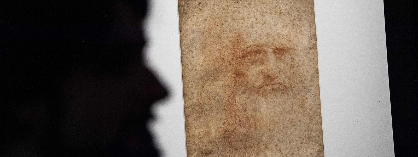 """Auch an ihn denken Europäer aller Länder, wenn sie """"Europa"""" sagen: Leonardo Da Vinci, dessen 500. Todestag am kommenden Donnerstag gefeiert wird. Hier als Selbstporträt in einer Ausstellung in Turin."""