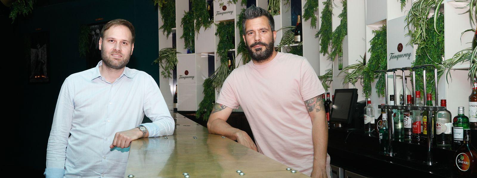 Clubbetreiber atmen auf: Gotham-Betreiber Bob Krier (l.) und Manager Marcello Raneri.